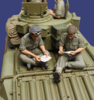 Letters Home - 2 Tank crew readings letters WW2