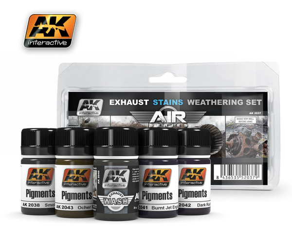 AK 2037 Exhaust Stains Weathering Set - Image 1