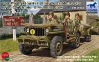 US Jeep 1/4ton 4x4 Utility Truck (Mod.1942) with 10-cwt Trailer and  Airborne Crew - Image 1