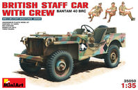 British Staff Car with Crew (Bantam 40 BRC)