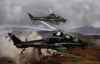 Arms straight 10 attack helicopters