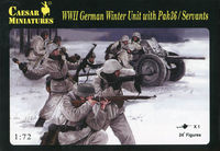 WWII German Winter Unit with Pak 36 / Servants - Image 1