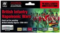 British Infantry Napoleonic Wars Paint Set (6)