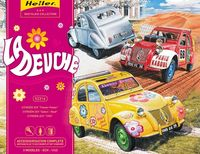 """La Deuche"" Citroen 2CV (3 cars-""Flower Power"", ""Safari Raid"", ""1955"")"