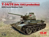 T-34/76 (late 1943 production), WWII Soviet Medium Tank (100% new molds) - Image 1