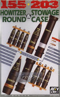 105/203mm HOWITZER ROUND and STOWAGE CASE