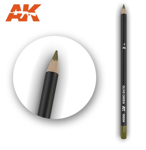 Watercolor Pencil Olive Green - Image 1