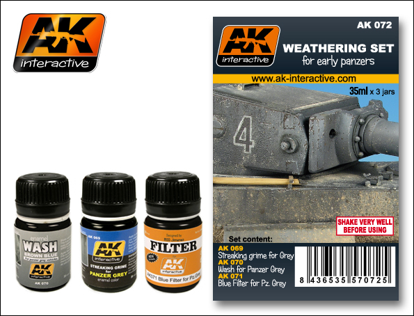 AK 072 WEATHERING SET FOR EARLY PANZERS - Image 1