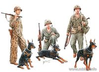 Dogs in service in the US Marine Corps, WW II era - Image 1