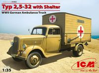 Typ 2,5-32 with Shelter, WWII German Ambulance Truck - Image 1