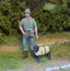 Soldier w Mine Dog